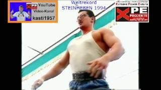 SEINHEBEN 1994  WELTREKORD 750kg   3,0cm