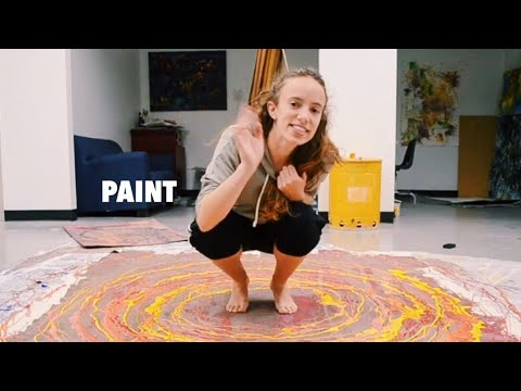 THIS WAS FANTASTIC | Action Painting Inspired By Jackson Pollock