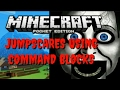 JUMPSCARES USING COMMAND BLOCKS!   Minecraft PE Redstone Tutuorials