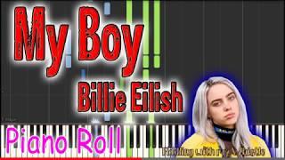 My Boy - Billie Eilish - Piano Roll - Play Along Tutorial