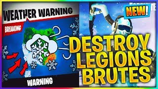Fortnite Ice Storm event challenges and rewards (ice zombies)