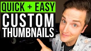 Video How to Make a YouTube Custom Thumbnail Tutorial — Quick and Easy download MP3, 3GP, MP4, WEBM, AVI, FLV September 2018