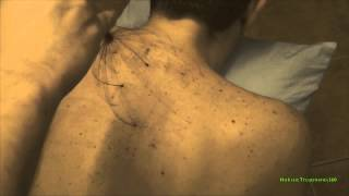 ASMR - Upper Back Tickle Massage with Head Massager Session 3 - Very Relaxing
