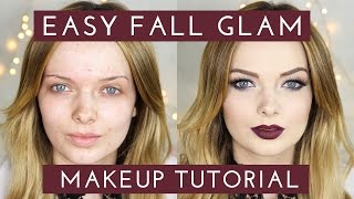 acne coverage easy fall glam makeup tutorial mypaleskin