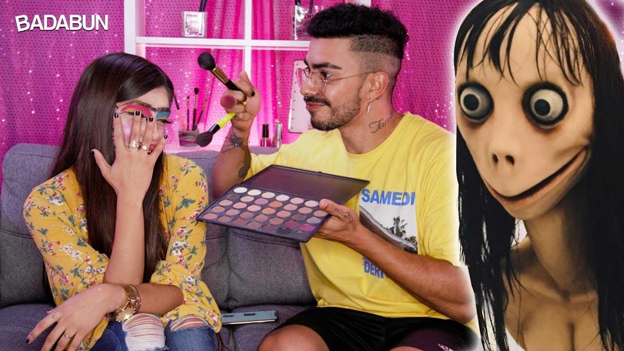 Malcriado maquilla a Andrea Zúñiga. Quedó peor que MOMO  #Trend