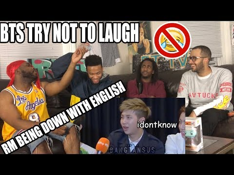 TRY NOT TO LAUGH CHALLENGE: NAMJOON (RM) BEING DOWN WITH BTS ENGLISH