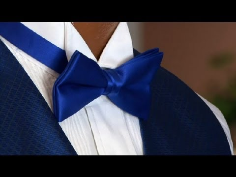 How to Wear a Bow Tie & Winged Collar : Tuxedos 101 - YouTube