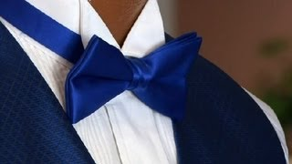 How to Wear a Bow Tie & Winged Collar : Tuxedos 101
