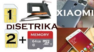 Cara pasang SIM CARD + memory di Xiaomi  - Dual Sim and MicroSD card  on Xiaomi