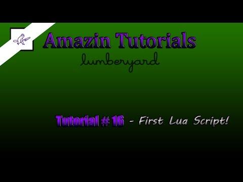 Amazon Lumberyard Tutorial #17 - Our First Lua Script!!!