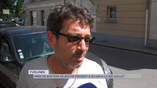 Yvelines : Près de 600 kms de routes passent à 80 km/h le 1er juillet