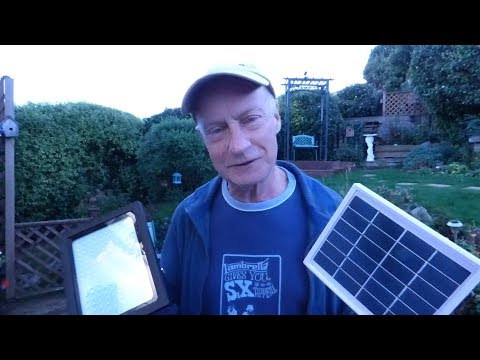 "Review of the ""bang good"" solar security light. (Great name.)"