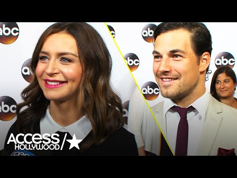 'Grey's Anatomy': Caterina Scorsone & Giacomo Gianotti Tease S13 | Access Hollywood