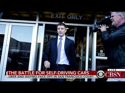 Travis Kalanick makes first public appearance in Uber-Waymo trial