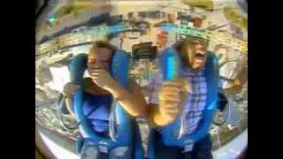 Teenager passes out on slingshot ride 4 times !