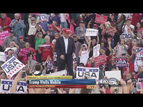 Donald Trump's 'Thank You' Tour Rally in Mobile, Ala.