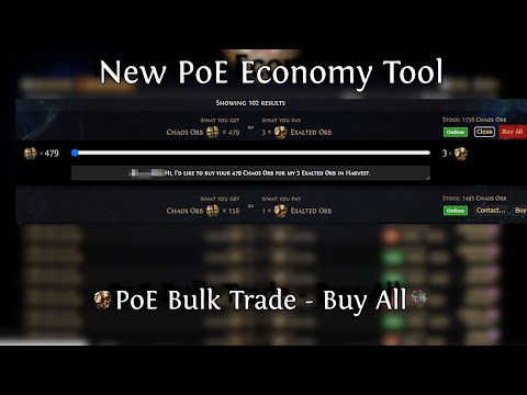 PoE Bulk Trade - Buy All, New Tool for Path of Exile
