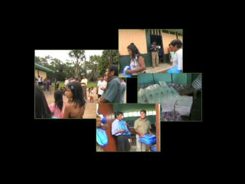 Peru, Maranon River: Bednet Distributions