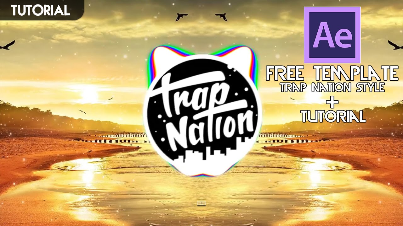 Turorial Free Template Audio Spectrum Trap Nation Style - Music video template after effects