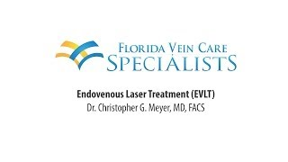 Endovenous Laser Therapy (EVLT) Instructional Demonstration by Dr. Christopher G. Meyer, MD, FACS