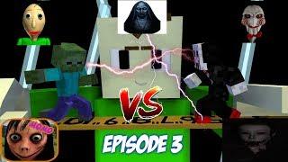 Monster School : BALDI'S JIGSAW, THE EYE, NUN, MOMO Part 3 (Battle) - Minecraft Animation