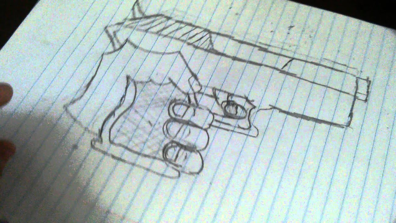 How To Draw Hand Holding Gun Part 2 And Thumbs Up