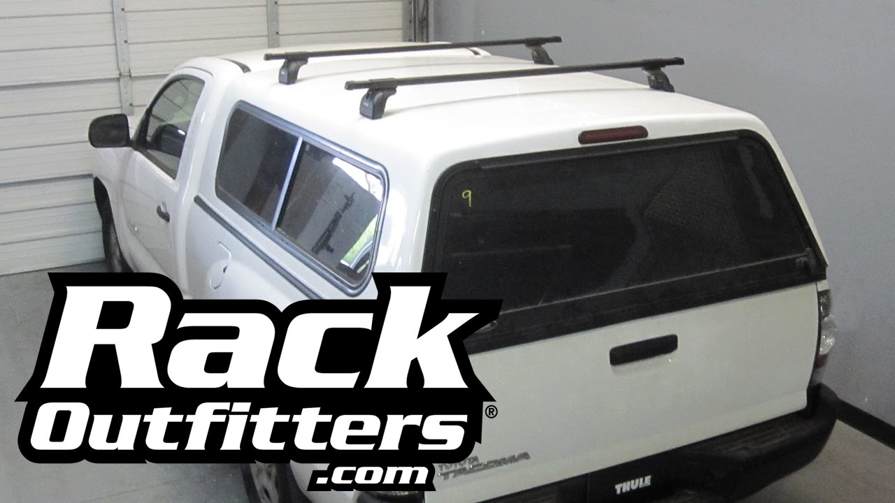 Thule Podium Square Bar Roof Rack for Fiberglass Truck Cap/C&er by Rack Outfitters - YouTube  sc 1 st  YouTube : thule canopy roof rack - memphite.com