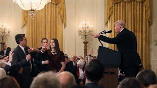 """Trump streitet mit CNN-Reporter: """"Sie sind eine unhöfliche, schreckliche Person"""""""
