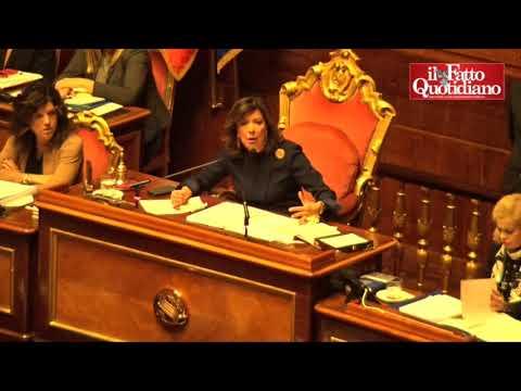 """Dl Genova, Casellati riprende il Senato: """"Rispetto per i 43 morti, pesano sulle coscienze di tutti"""""""