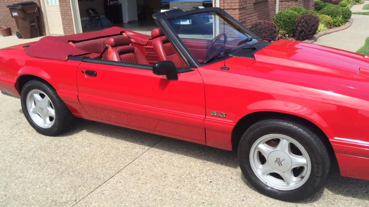 1992 mustang lx 5 0 convertible