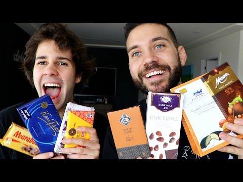 BFFS DAVID DOBRIK and UGH ITS JOE test EXPENSIVE CHOCOLATE!!
