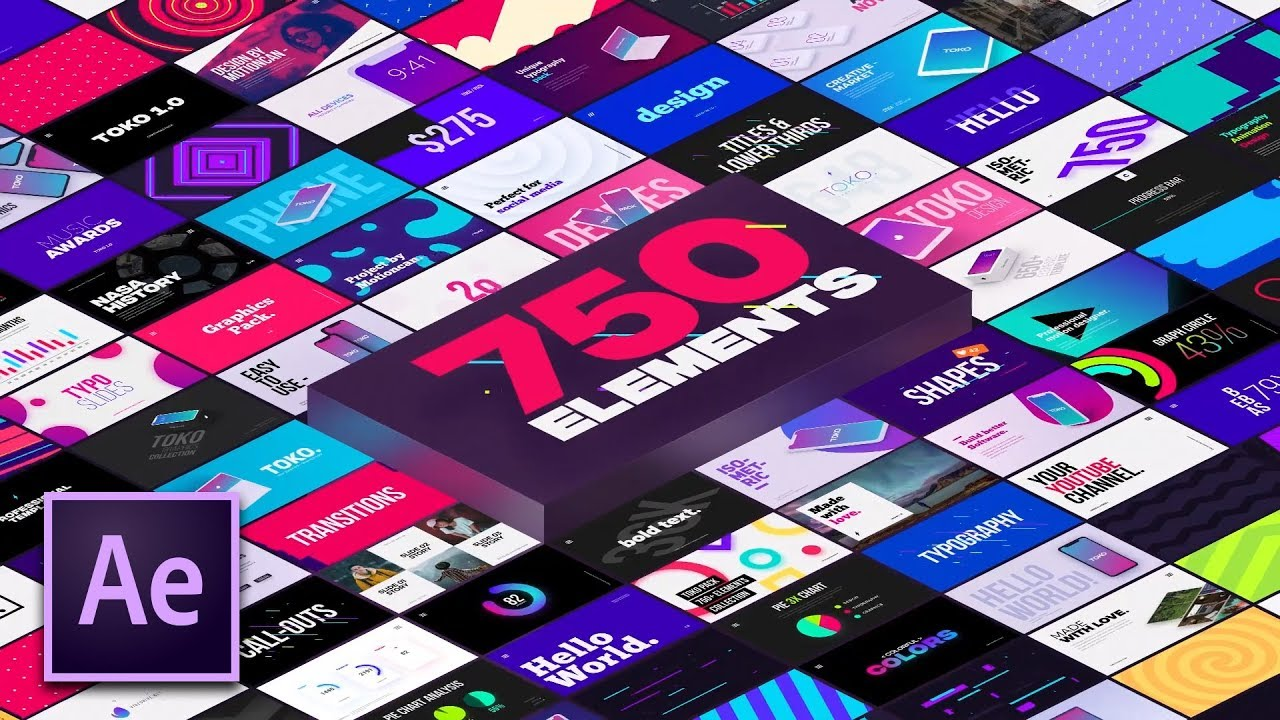 The Ultimate 750 Motion Graphics Pack For After Effects | TOKO Review