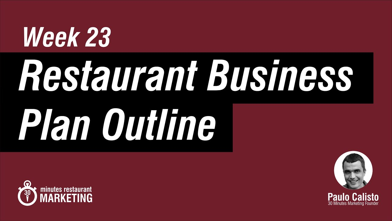 restaurant business plan pdf checklist to download youtube
