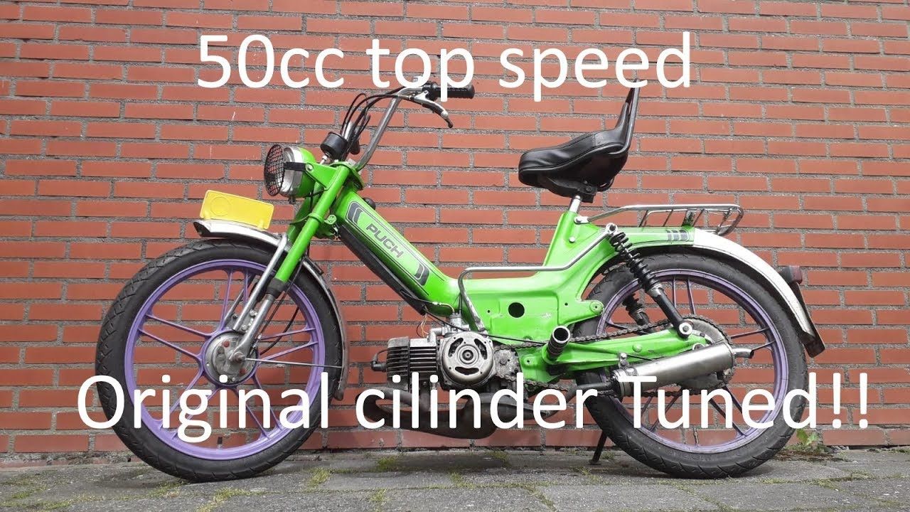 Puch Maxi top speed 50cc tuned