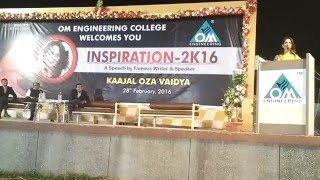 Kaajal Oza Vaidya - Inspiration 2K16 - 02 - Om Engineering College