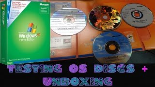 Testing OS Discs Part 1 + WinXP Unboxing (98, XP & 7)