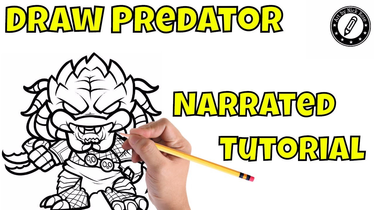 How to draw the predator masklearn to draw the predatorstep by step drawing of the predator