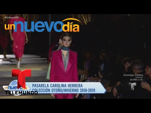 ¡Carolina Herrera se retira de las pasarelas! | Un Nuevo Día | Telemundo