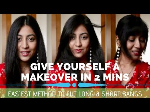 HOW to cut your own Bangs/ Fringe- Easiest method | Quick Makeover