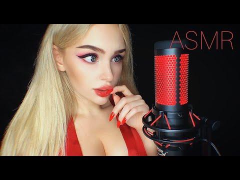 АСМР Триггеры на Микрофон HYPERX QUADCAST 😍/ ASMR Red Triggers ❤ / NEW mic test