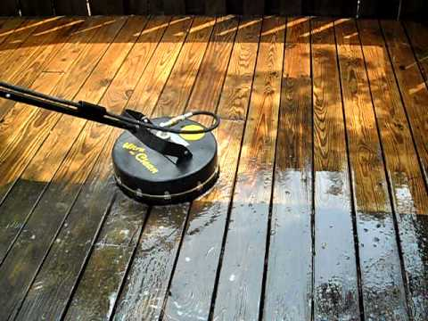 how to clean a deck without a power washer