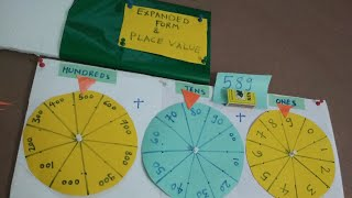 Expanded form and Place value, Maths Working model / TLM / Project