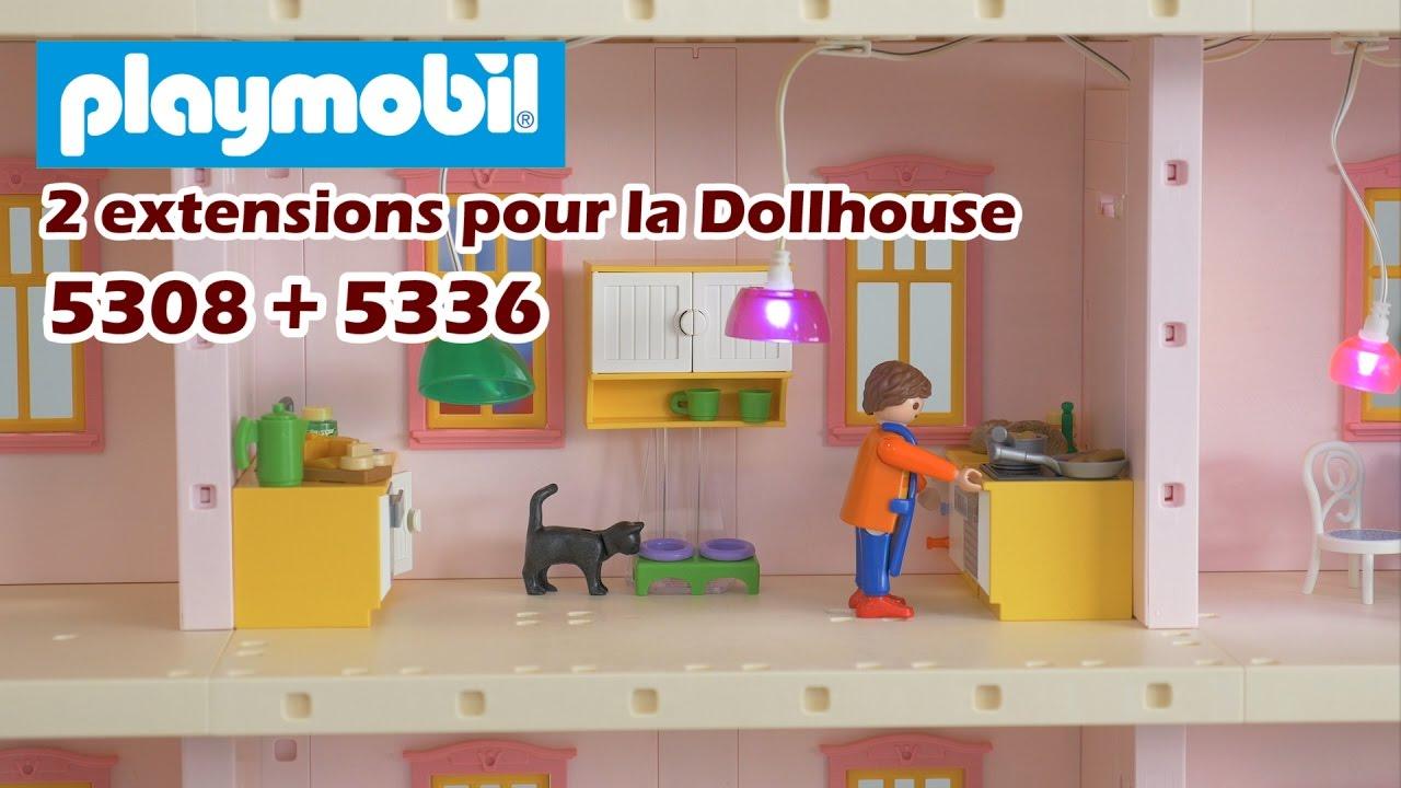 Playmobil 5336 la cuisine 5308 le salon extensions for Playmobil cuisine