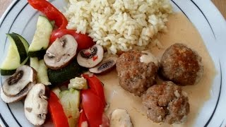Thermomix TM 5   Hackbällchen italienisch mit Gemüse und Reis