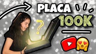 Unboxing PLACA de YOUTUBE 100k!! 😱 | @luciolsa