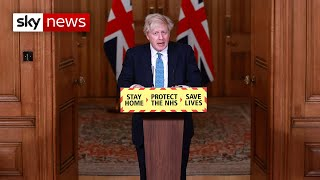In full: PM Boris Johnson holds news conference as lockdown begins