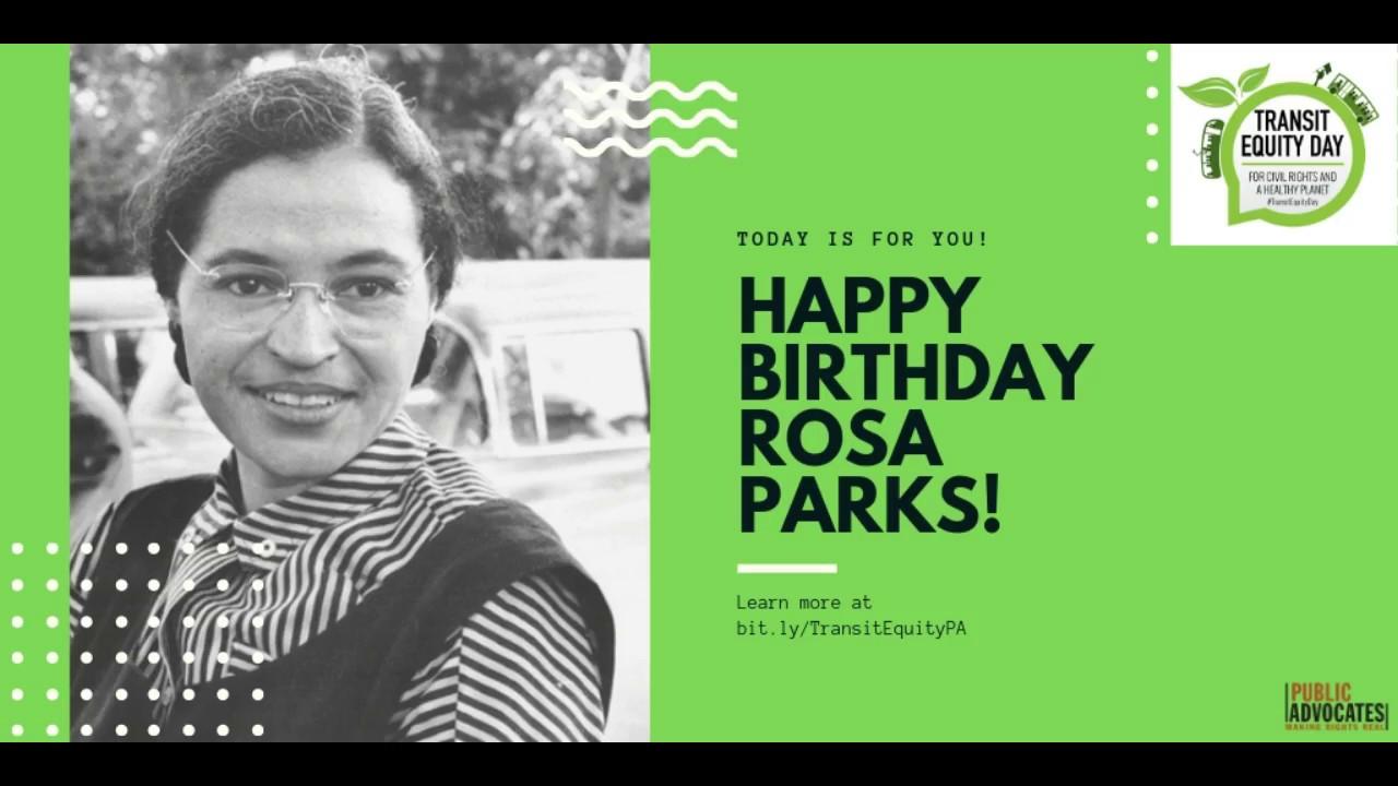Happy birthday, Rosa Parks