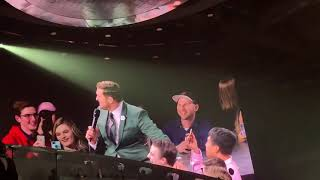 Michael Buble with a fan named Nick in Sasktel Centre, Saskatoon 2019