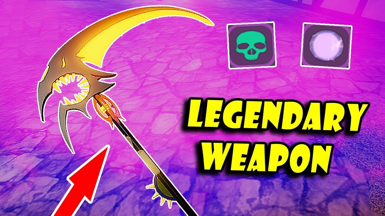 Power Of The Best Legendary Weapon Beastmaster Spell Scythe Roblox Dungeon Quest Youtube