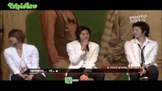 2008.06.09  SS501日本歌迷見面會中金賢重提到在韓國結婚了